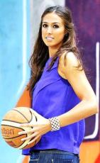 Tamara Abalde (c) Page Facebook Fan France Tamara Abalde Basketball women player