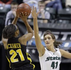 Allyssa DeHann - Michigan State Spartans (c) (AP Photo/Michael Conroy)