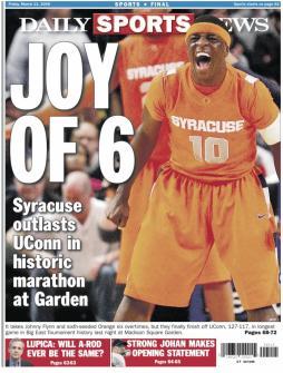 Couverture du Daily Sports News consacré à la victoire des Orangemen (c) Daily Sports News