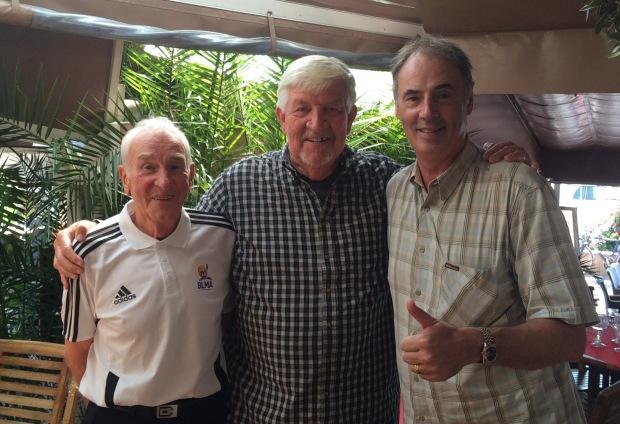 Jean Galle, Ken Gardner et Hervé Dubuisson en 2015.
