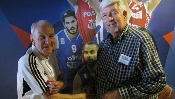 Jean Galle et Ken Gardner meilleur marqueur de Berck en 1973 (22,7 points de moyenne) lors de l'Eurobasket 2015 en France.
