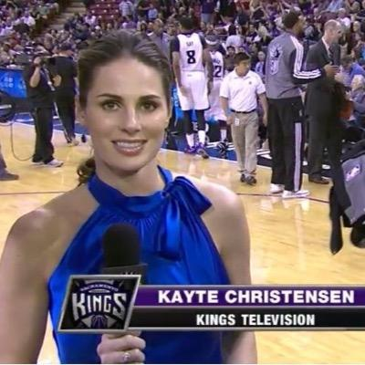 Kayte Christensen, reporter Sacramento Kings (c) Twitter