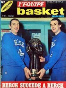Les frères Jean et Pierre Galle en couverture de l'Equipe lors du second sacre de l'AS Berck en 1974