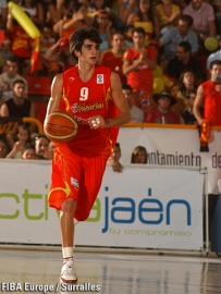 Ricky Rubio à la mène lors de l'Eurobasket U16 avec l'Espagne (c) Fiba