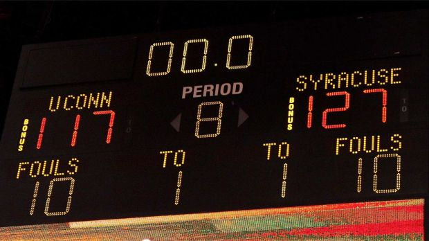 Score final de Syracuse-Connecticut le 12 mars 2009 (c) Getty
