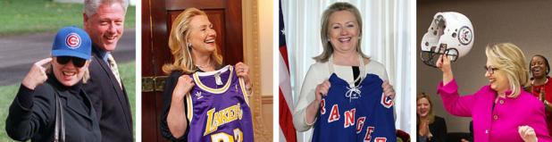 """""""J'adoooore le baseball, je suis fan des Chicago Cubs !"""" """"J'adoooore le basket, je suis fan des Los Angeles Lakers !"""" """"J'adoooore le hockey, je suis fan des new York Rangers !"""" """"... et... heeuuuu... Je joue au football avec l'équipe du département d'état."""""""
