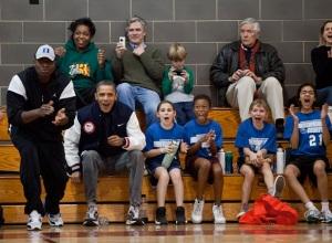 Un papa supporter de sa fille. © Pete Souza / White House