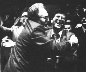 Xavier Popelier et Jean-Claude Biojout. La réussite du CSP sur le terrain mais aussi dans les structures.© Le Musée du basket.