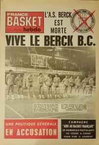 L'AS Berck devient Berck Basket Club pour la saison 1974-1975.