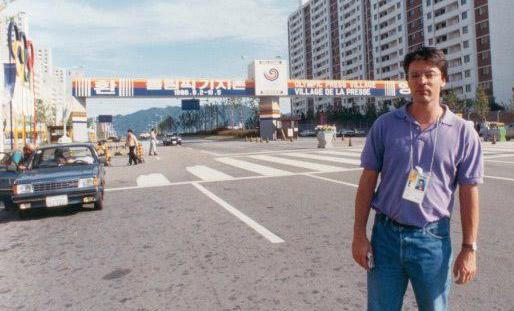 1988, Pascal Legendre couvre les J.O de Séoul.
