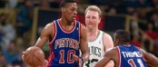 Rodman - Bird Boston Detroit 1991 playoffs