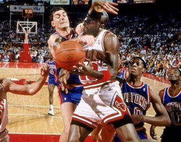 Bulls Pistons 1989 ECF Bad Boys Laimbeer Jordan