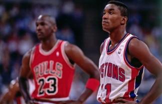 Bulls - Pistons 1989 Thomas Jordan