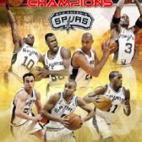 affiche Spurs champions NBA 2003 (c) hhweb.com
