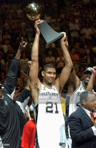 Tim Duncan MVP des Finals 2003 (c) Getty