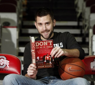 Mark Titus, former Ohio State men's basketball player and founder of Club Trillion, has written a book about his experiences as a bench player for Ohio State. (Dispatch photo by Kyle Robertson)