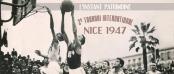 La Virtus Bologne et de l'Eveil de Sainte-Marie de la Guillotière de Lyon en 1947 @ Musée du Basket - FFBB
