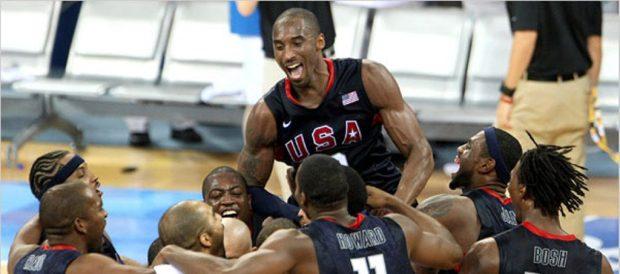 Team USA et leur joie en finale des JO de Pékin (c) New York Times - Chang W.Lee
