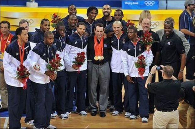 Team USA médaillé d'or à Pékin en 2008 (c) AFP