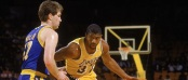 Chris Mullin - Magic Johnson Warriors-Lakers