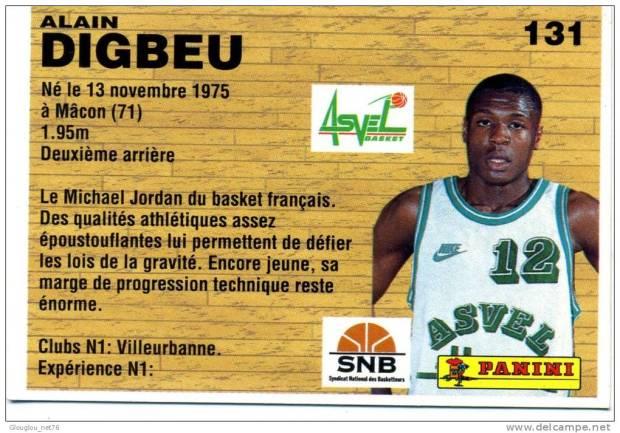 Carte Alain Digbeu - Asvel Villeurbanne