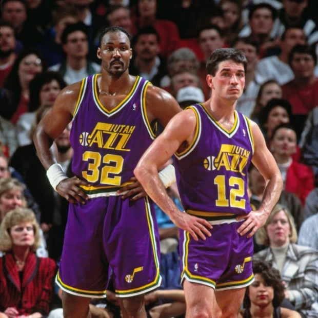 Karl Malone - John Stockton (c) Getty