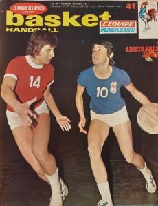 Jacky Chazalon en une de Basket-Handball du 12 mars 1971.