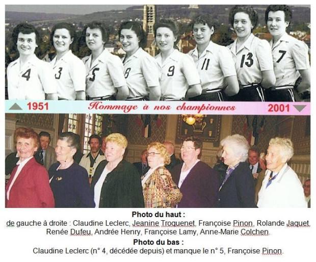Cérémonie du cinquantenaire du titre, organisée par le Château-Thierry BB en 2001