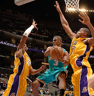 Chris Paul 21 passes face aux Lakers en novembre 2007 (c) Getty