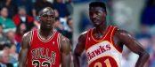 Dominique Wilkins vs Michael Jordan en 1987 (c) capture écran You Tube