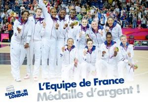 L'équipe de France, médaillée d'argent aux JO 2012 de Londres