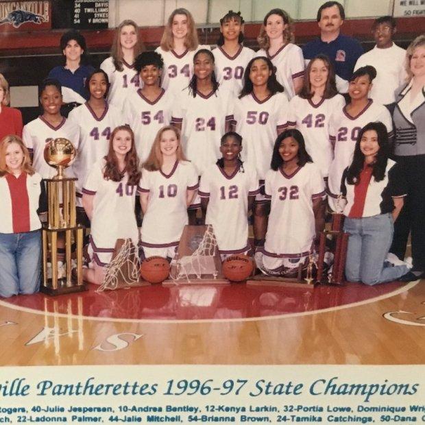 Tamika Catchings, numéro 24, championne d'Etat avec Duncanville en 1997 (c) Twiiter Indiana Fever