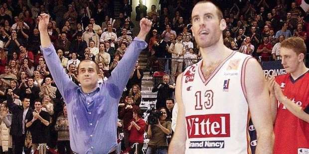 Sylvain Lautié, victorieux de la coupe Korac avec Nancy - Est Républicain
