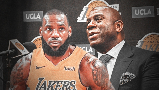 LeBron James et Magic Johnson - source ClutchPoints com.jpg