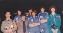 de g. à d : C. Gallard, Suzy, E.Riffiod, C.Malfois, C.Bosero, S.Simonetti et une joueuse italienne