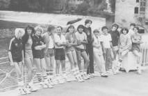 L'Équipe de France en préparation pour le TQO et le CE 1980 de g. à d. : Isnard, Ste-Croix, Labille, Gorzewski, Coach Cormy, Maire, Ekambi, Bosero, Desert, Suzy, Simonetti, Hetzel, Roudet, Sarabia
