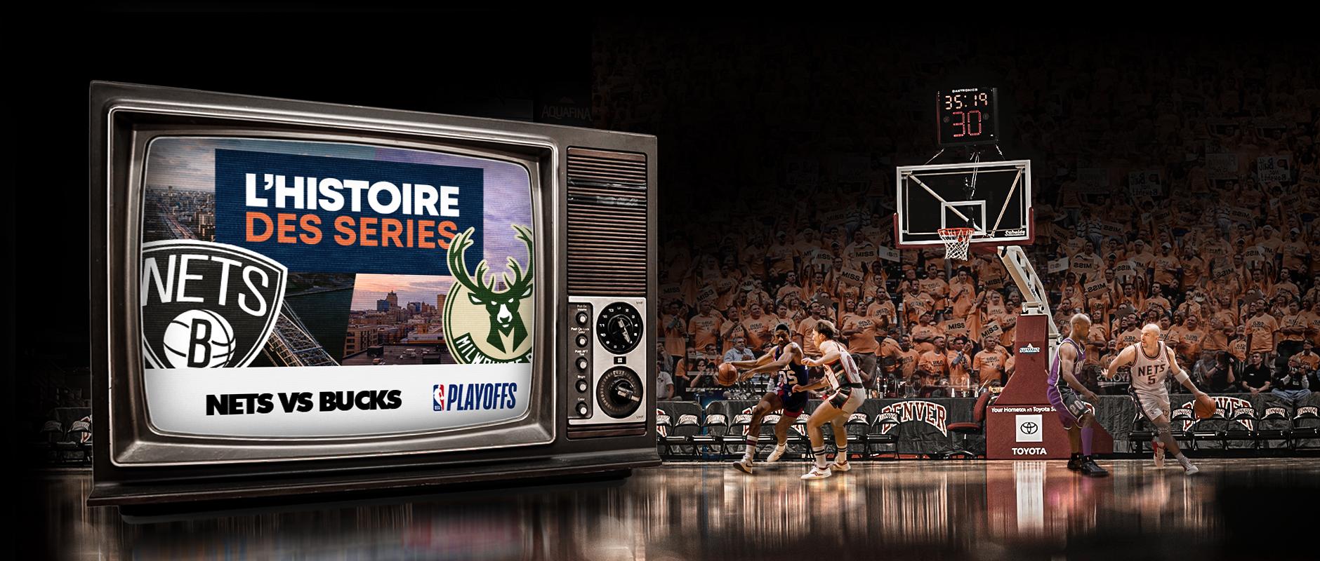 Basket Rétro – Demi Serie de PO – Bucks Nets –V1