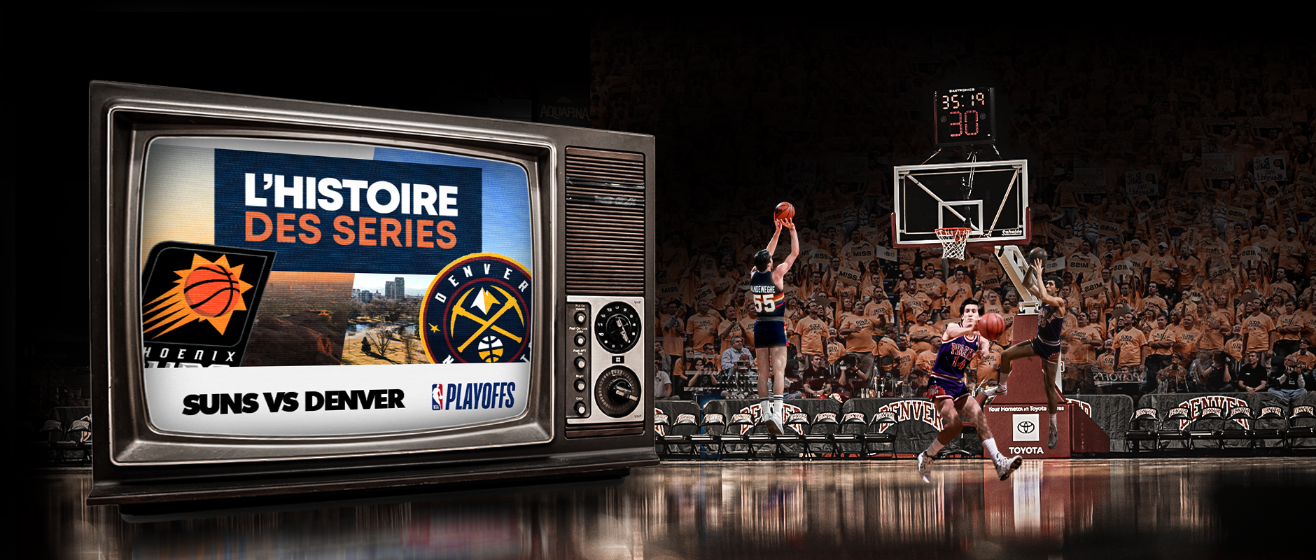 Basket Rétro – Demi Serie de PO – Suns Denver –V1